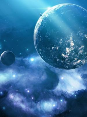 蓝色星系手机壁纸