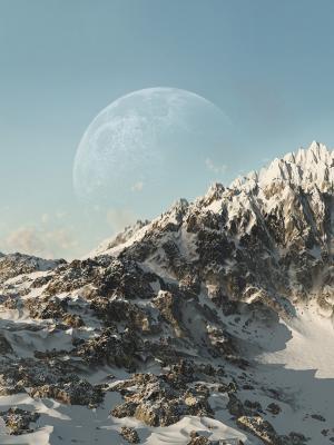 行星天空雪移动壁纸