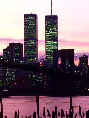 纽约的双子塔手机壁纸