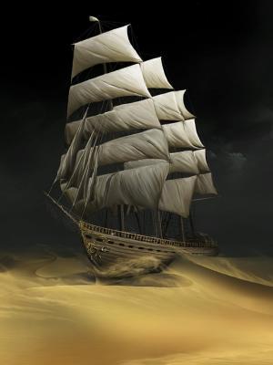 沙漠船舶移动壁纸