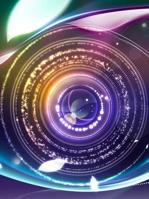 数字抽象眼睛手机壁纸