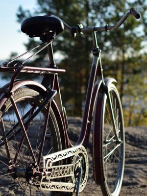 老自行车移动壁纸