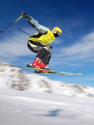 滑雪滑雪雪地移动壁纸