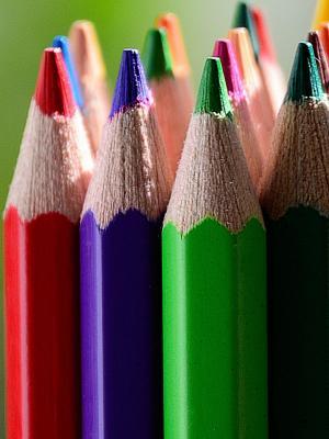 彩色的铅笔移动壁纸
