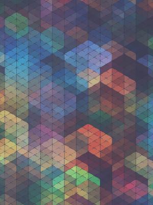 抽象多色图案移动壁纸