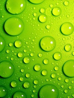 绿色泡沫移动壁纸