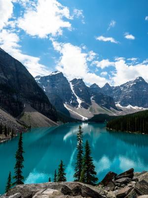 翡翠冰Lake湖移动壁纸