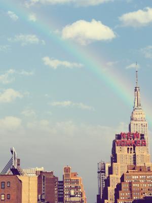 纽约市高层彩虹。
