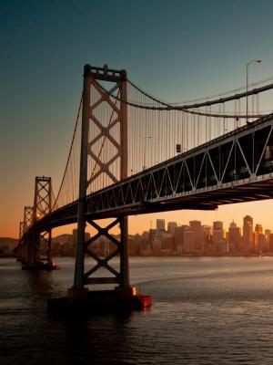 市中心湾桥手机壁纸