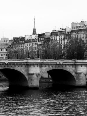 巴黎新桥单色手机壁纸