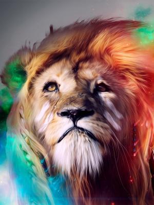 狮子抽象手机壁纸