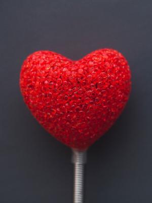 红色的爱的心情人节手机壁纸