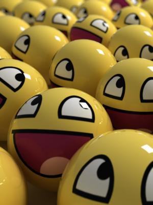 面带笑容的脸手机壁纸