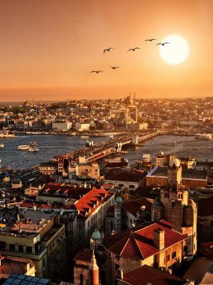 伊斯坦布尔日落移动壁纸