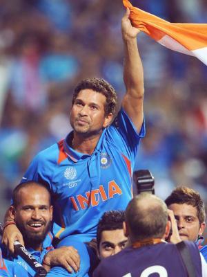 Sachin Tendulkar板球手机壁纸的神