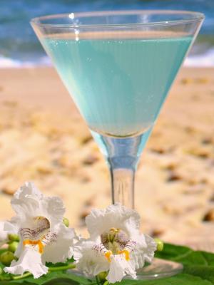 夏日海滩鸡尾酒手机壁纸