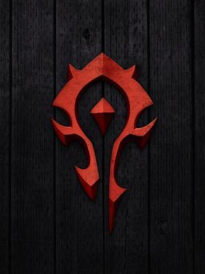 魔兽世界 - 部落标志手机壁纸