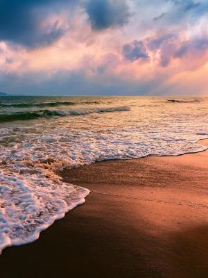 海滩沙海岸移动壁纸