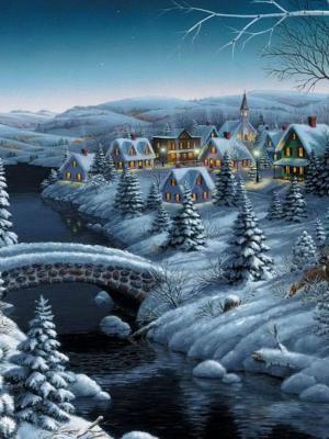 冬天雪圣诞节手机壁纸