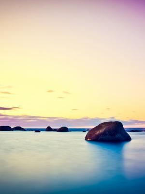 海岸黎明风景移动壁纸