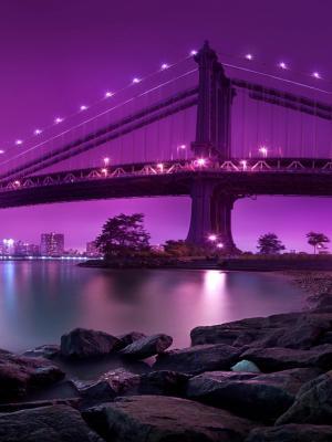 曼哈顿大桥纽约城手机壁纸