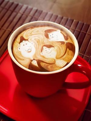 咖啡杯子手机壁纸