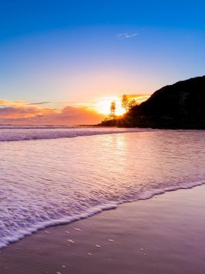 日出自然海滩移动壁纸