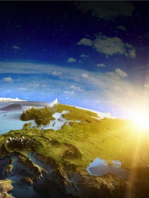 地平线地球手机壁纸