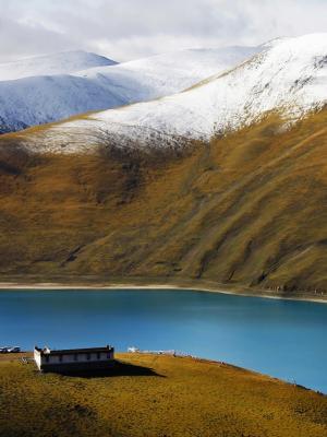 yamdrok湖西藏手机壁纸