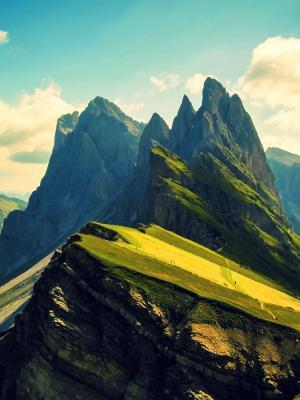 山景观高峰移动壁纸