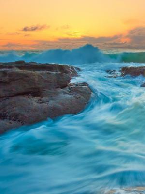 潮汐和波浪手机壁纸