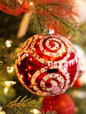 圣诞节圣诞节圣诞树装饰移动壁纸