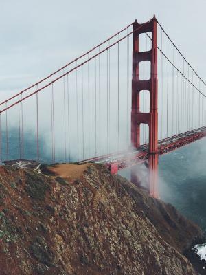 地标桥悬崖加州手机壁纸