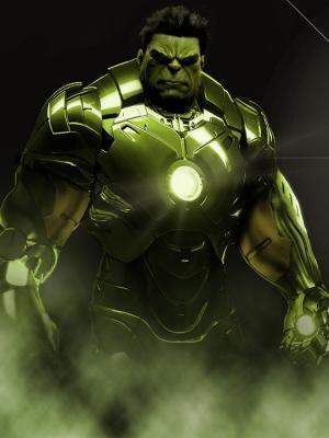 绿巨人钢铁侠手机壁纸