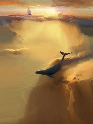 船鲸鱼艺术品移动壁纸