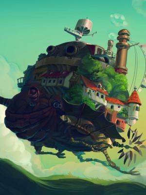 哈尔的移动城堡移动壁纸