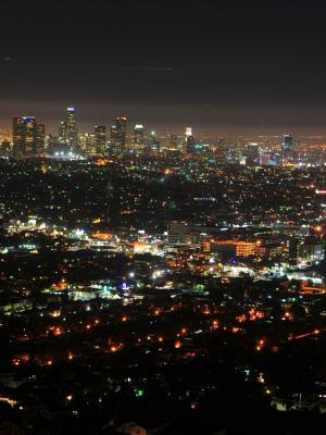 晚上加州市中心La手机壁纸