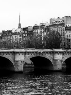 法国巴黎新桥手机壁纸