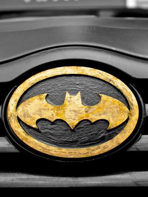 汽车超级英雄符号蝙蝠侠手机壁纸