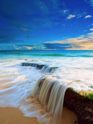 海滩风景大自然移动壁纸