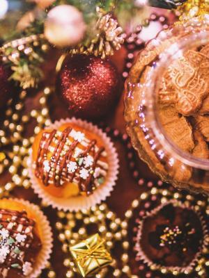 食品甜饼干圣诞节手机壁纸