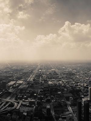 云城市风景天际线移动壁纸