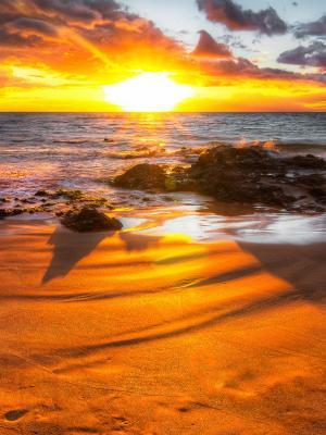 橙色日落移动壁纸