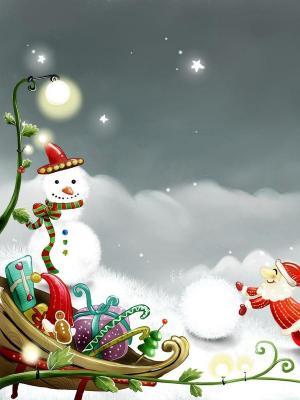 圣诞节丝带移动壁纸