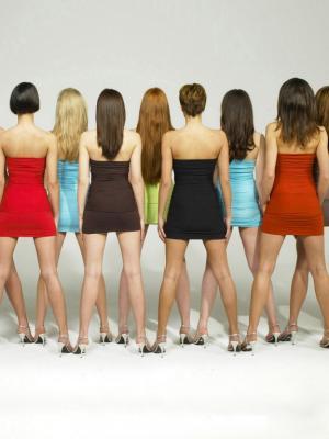 黑发金发女性手机壁纸