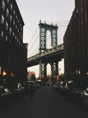 城市黑暗纽约桥手机壁纸
