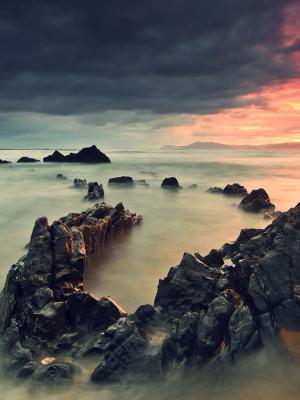 山景观海滩移动壁纸