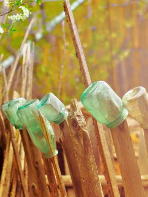 木艺术瓶玻璃手机壁纸