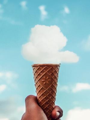 rozhok morozhenoe oblako手机壁纸