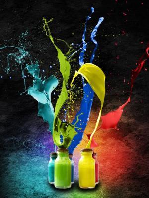 飞溅的颜色手机壁纸